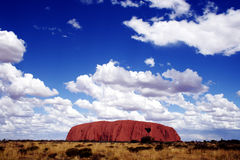 De Rots van Ayers (Uluru) Royalty-vrije Stock Afbeeldingen