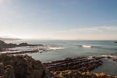 De rots van Biarritz Stock Afbeelding