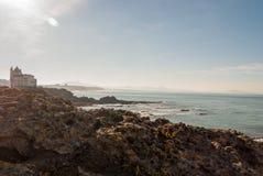 De rots van Biarritz royalty-vrije stock afbeeldingen
