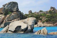 De rots van de buldog Stock Foto