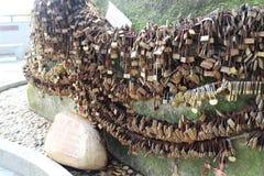 De Rots van de de Bergminnaar van Zhuhaishijing Stock Afbeelding