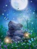 De rots van de fantasie met lampen royalty-vrije illustratie