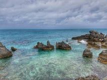 De rots van de overzeese van de Bermudas de baai Klippenwind Royalty-vrije Stock Foto's