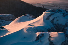De rots van de sneeuw Stock Fotografie