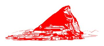 De rots van Gibraltar vector illustratie