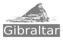 De rots van Gibraltar royalty-vrije illustratie