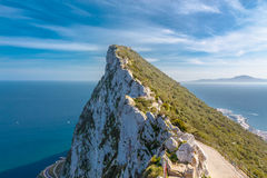 De rots van Gibraltar Stock Afbeeldingen