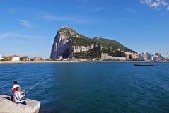 De rots van Gibraltar Stock Foto's