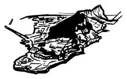 De Rots van Gibraltar van het zuiden stock illustratie
