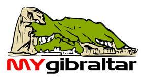 De Rots van Gibraltar met mijn Gibraltar stock illustratie