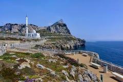 De Rots van Gibraltar zoals die van Europa Punt wordt gezien Royalty-vrije Stock Fotografie