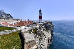 De Rots van Gibraltar zoals die van Europa Punt wordt gezien Royalty-vrije Stock Afbeelding