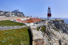De Rots van Gibraltar zoals die van Europa Punt wordt gezien Royalty-vrije Stock Foto's