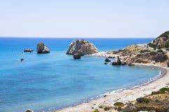 De rots van het Venus van Aphrodite van de godin in Cyprus Stock Fotografie