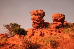 De rots van het zandsteen royalty-vrije stock afbeeldingen