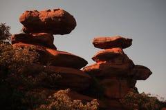 De rots van het zandsteen Stock Foto