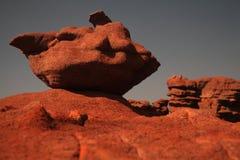 De rots van het zandsteen royalty-vrije stock foto's