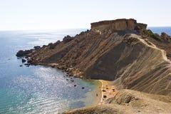 De rots van Malta Royalty-vrije Stock Afbeeldingen