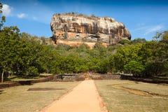 De rots van Sigiriya Stock Foto's