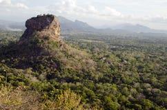 De rots van Sigiriya. Sri Lanka Stock Foto's