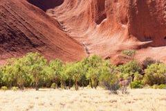 De Rots van Uluruayers, Noordelijk Grondgebied, Australië stock fotografie