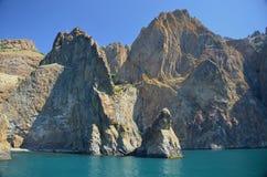 De rots is zeer gelijkaardig aan een monster royalty-vrije stock foto