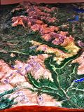 De rotsachtige kaart van Colorado de V.S. drie D van het bergenpark Stock Afbeelding