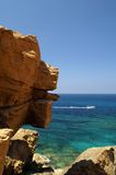 De rotsachtige kust. Stock Fotografie