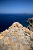 De rotsachtige kust van Griekenland Stock Foto