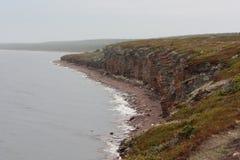 De rotsachtige kust van het overzees Stock Foto