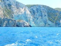De rotsachtige kusten van Zakynthos Stock Foto