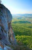 De rotsachtige mening van de Berg van de Krim van de lente Royalty-vrije Stock Afbeelding
