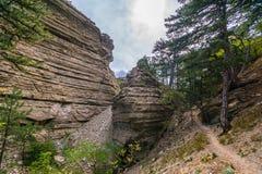 De rotsen in de landstreek Taraktash Stock Afbeelding