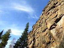 De rotsen en de Hemel Stock Fotografie