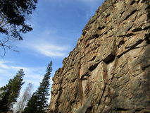 De rotsen en de Hemel Stock Foto's