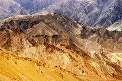 De rotsen en de stenen, bergen, ladakh modelleren Leh, Jammu & Kashmir, India Royalty-vrije Stock Fotografie