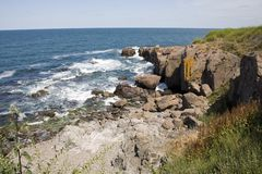De rotsen op de kust van de Zwarte Zee Royalty-vrije Stock Afbeelding