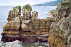 De rotsen Punakaiki van de Pannekoek Royalty-vrije Stock Foto's