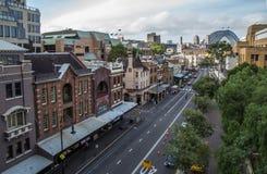 De rotsen in Sydney stock afbeelding