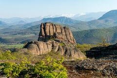 De rotsen van Belogradchik Bulgarije Stock Fotografie