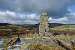 De rotsen van de Bowermansneus in Dartmoor Stock Foto's