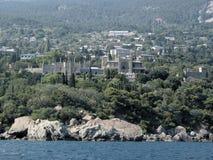 De rotsen van de Krim en paleis Vorontsov royalty-vrije stock afbeelding