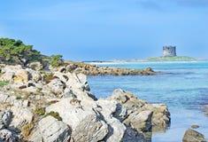 De rotsen van de kustlijn Royalty-vrije Stock Foto