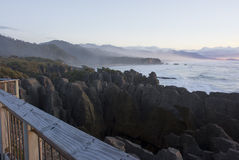 De rotsen van de pannekoek bij zonsondergang Stock Fotografie