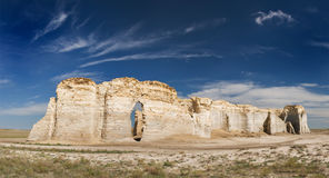De Rotsen van het monument in Kansas Royalty-vrije Stock Fotografie