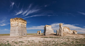 De Rotsen van het monument in KS Royalty-vrije Stock Afbeeldingen