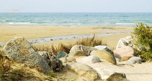 De rotsen van het strand Royalty-vrije Stock Fotografie