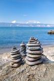 De Rotsen van het strand stock fotografie