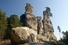 De rotsen van het zandsteen. Stock Afbeeldingen