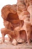 De rotsen van het zandsteen in de Sinai Woestijn Stock Foto's